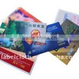 printed PVC back side coated cloth label for mattress label / carpet & rugs label/ blanket label