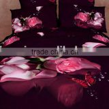 four six 3D flower tiger flat king size full size twin size queen size duvet cover set