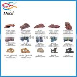 HETO Wholesale aquarium accessories, air stone, fish net, plastic fake fish plant and coral, resin rock