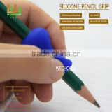 Wholesale soft touch silicone rubber pencil grip helpful in kids' preschool pencil grip stages