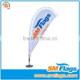 Car Wing flags in teardrop shape by plastic