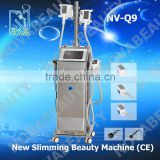 Factory price rf slimming body contouring cryotherapy facial equipment with 2 handles work together