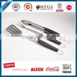Hot set spatula fork tong of outdoor Barbeque tools set