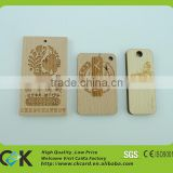 Custom laser engraving NFC wooden hang tag for luggage/suitcase