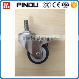 adjustable removable swivel thread stem antique furniture caster and wheels for trailers