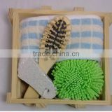 HOT natural wooden bath massage gift set/bath brush set