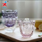 Europe type restoring ancient ways embossment crystal glass cup dessert cup