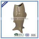 Low Price High Quality Resin Decorative Fish Open Mouth Vase