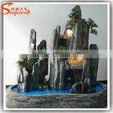 Water fountains wholesal decorative fiberglass feng shui water fountain culpture indoor water fountain landscape stone fountain
