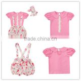 2017 New arrival baby bedding set,spring baby girls overalls set