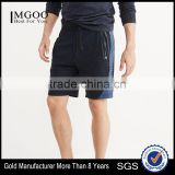 MGOO Wholesale Color Matching Side Zipper Gym Shorts Men Jogger Logo Rubber Printing Pants
