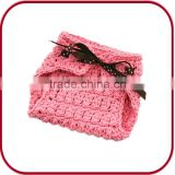 PGGD-1082 girls diaper cloth cover crochet baby hat and diaper cover set