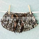 Brown Leopard Satin Ruffles Panties Bloomers BSG6