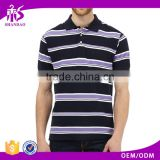 2016 Guangzhou Shandao OEM Factory New Design Summer 180g 100% Cotton Short Sleeve Plain Stripe B2B Clothing