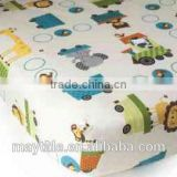 100% cotton percale fitted crib sheet