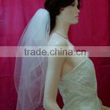 Newest style white tulle bridal veils VG075