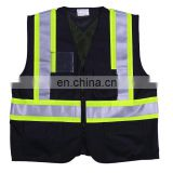 EN20471 reflective Conspicuity black Warning Working Safety Vest
