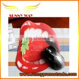 2017 new design mouth mouse pad