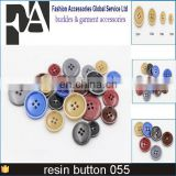 high quality round flatback 4 holes solid color resin buttons sewing on shirt handmade baby buttons plastic buttons