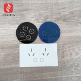 Custom tempered 2mm black color silk screen printed round touch button glass panel