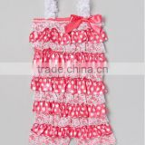 Sales Promotion!STOCKING! 31 colors lace baby romper with straps and bow for infant & todder wholesale lace petti romper