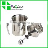 OEM Service Customed Logo Kitchen Appliances frothing milk jug , stainless steel manual milk frother