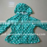 girls fashion nylon rain coat for Autumn 2012