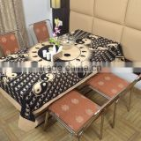 Indian Cotton Table Cloth Black-Cream Peace Sign Printed Dinning Table Cloth Vintage Wall Hanging Throw Bed Sheet Cover TC37
