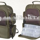 fishing tackle bag with plastic box inside