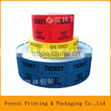 Double raffle ticket,ticket for arcade game,raffle ticket wholesale