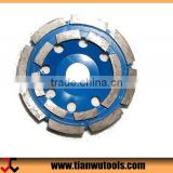 "Dia.4"" HTC machine double-deck mill stone depressed center grinding wheel"