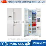 High quality side by side door refrigerator with Water dispenser and Ice Box, water bar on fridge door