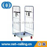 Insulated metal steel wire mesh cargo storage roll cage container