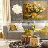Oil painting Art supply canvas oil table flower vase flower Modern art for wedding decoration Wall decor house decoration