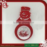 Christmas Tree Decoration Snowman Shape With Clear Plastic Balls With Diamond Powder Styrofoam Particles