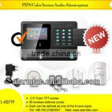 SIM card GSM Home burglar Alarm System With 3 Wired and 99 Wireless Defense Zones--yl-007M2K