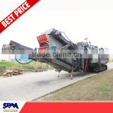 SBM hot sale hydraulic-driven track crushing and screening plant