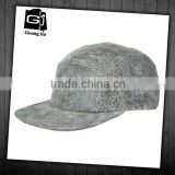 Fashion leather distressed grey 5 panel cowboy hat cheap