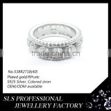 9.25 silver ring with big stone rounding women's rings fashion engraved engagement ring