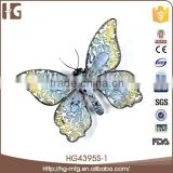 Hot sell blue iron metal butterfly wings wholesale
