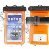 Hot ! Eco-friendly pvc double use mobile phone waterproof bag with armband