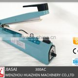 Aluminum Body hand held bag sealer SF300AC impulse heat sealer With side cutter smart sealer