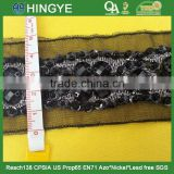 wholesale black acrylic stone handmade beaded trimming M102