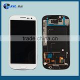alibaba express LCD display & digitizer assembly w/frame for Samsung galaxy S3 I9300 white