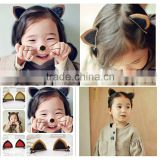 Hot-sales Cat Ear Style Baby Hair Clip Hair Accessories Children Hair Infant Hairgrips Summer Style Headband CB-3602