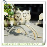 Household Hotel Furnishing Articles Metal Crafts Owl Iron Candlestick Candle Holder