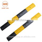 980*100*20mm Road Rubber Speed Bumps For Traffic Safety