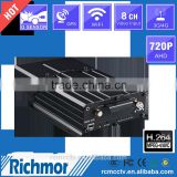 Remote monitoring G-sensor/GPS/GSM/3G/4G/wifi 4CH mobile DVR,SD/HDD/SDD OEM MDVR with Car camera
