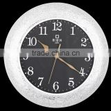 Fashion and simple style glass mute home decoration wall clock with factory price