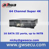 Dahua 64 Channel NVR Super NVR with Front LCD Display Support RAID0/1/5/6/10/50/60